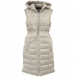 MAGGY (REF. 63759) TAUPE - LONG SLEVELESS DOWN JACKET