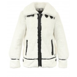 CULTURE (REF. 63784) IVORY - BOMBER JACKET IN FAKE FUR