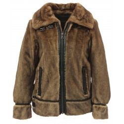 CULTURE (REF. 63784) MINK - BOMBER JACKET IN FAKE FUR