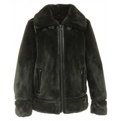 CULTURE (REF. 63784) DARK GREY - BOMBER JACKET IN FAKE FUR