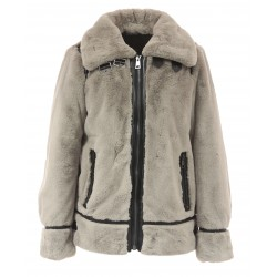 CULTURE (REF. 63784) DARK BEIGE - BOMBER JACKET IN FAKE FUR