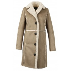 RIVALITY (REF. 63744) MASTIC - FAUX SHEARLING COAT