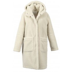 MARVELOUS (REF. 63683) EGGSHELL - LONG HOODED COAT IN MIXED WOOL