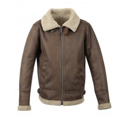 CENTURING (REF. 63799) ANTIC BROWN - FAUX SHEARLING BOMBER JACKET