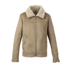 JEFF (REF. 63803) MASTIC - FAUX SHEARLING JACKET