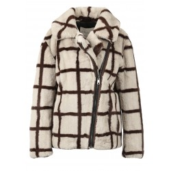 MEDIA (REF. 63788) TWO-COLOURED - ASYMETRICAL JACKET IN FAKE FUR