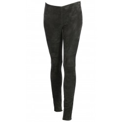ANTHRACITE SUEDE STRETCH LEGGING ASTEROID