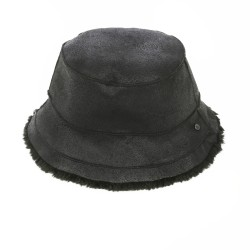 ALTO (REF. 63811) BLACK - REVERSIBLE WOOL AND FAUX FUR BUCKET HAT