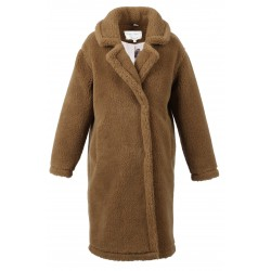 WONDERFUL (REF. 63684) MARRON - LONG MANTEAU EN LAINE MELANGEE