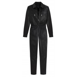 VERONIKA (REF. 63723) BLACK - GENUINE LEATHER JUMPSUIT
