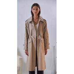 GALAXY (REF. 63887) MASTIC - LONGLINE RAINCOAT WITH REMOVABLE HOOD