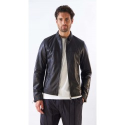 ROB (REF. 63928) BLACK - MAT GENUINE LEATHER URBAN JACKET