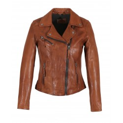 CLIPS (REF. 64095) FIRE - ASYMETRICAL REFINED JACKET IN GENUINE LEATHER