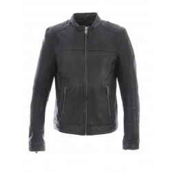 DUBLIN (REF. 64097) BLACK - JACKET IN SMOOTH GENUINE LEATHER