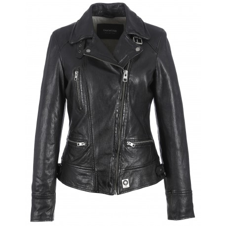 62065 - BLACK JACKET VIDEO - OAKWOOD - THE LEATHER BRAND cfce0eb88a5