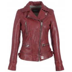 VIDEO (REF. 62065) FIRE - WASHED LOOK GENUINE LEATHER JACKET