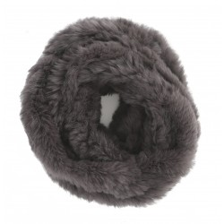 ROMY (REF. 62190) DARK GREY – REAL FUR SNOOD