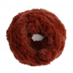 RUST KNITTED SNOOD