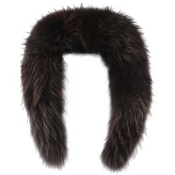 BROWN RACCOON FUR COLLAR