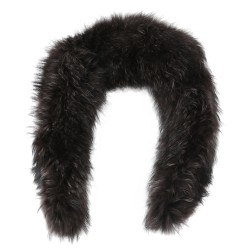 KAKI RACCOON FUR COLLAR