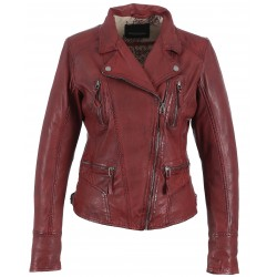 CAMERA (REF. 60861) RED - GENUINE LEATHER JACKET