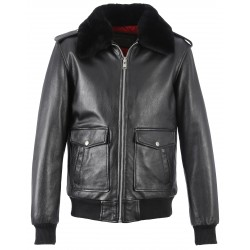 62072 - BLACK AVIATOR PILOT JACKET