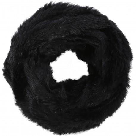 62190 - BLACK FUR SNOOD