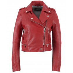 YOKO (REF. 62326) RED - JACKET IN GENUINE LEATHER