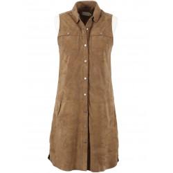 62338 - TAN SUEDE DRESS