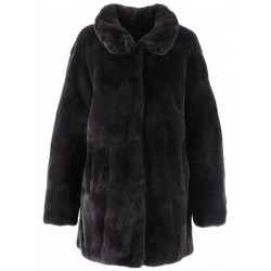 62439 - DARK GREY FUR COAT LUNA