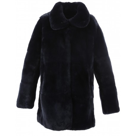 LUNA (REF. 62439) NAVY BLUE - REAL FUR JACKET