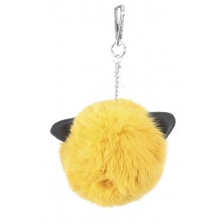 CATSY (REF. 62448) YELLOW - REAL FUR KEYRING