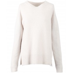 DAY (REF. 62634) CONCRETE - WOOL SWEATER WITH REAL FUR