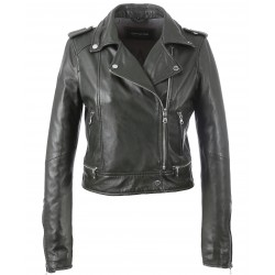 YOKO (REF. 62326) DARK GREEN- JACKET IN GENUINE LEATHER