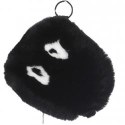 POCKET (REF. 62445) BLACK - REAL FUR CLUTCH BAG