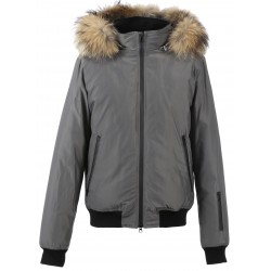 62427 - GREY REAL FUR JACKET