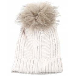 62633 - CONCRETE WOOL BEANIE WITH BOBBLE COOL