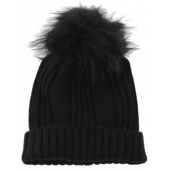 62633 - WOOL BEANIE WITH BLACK BOOBLE COOL