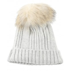 62633 - WOOL BEANIE WITH CLOUDY GREY BOOBLE COOL