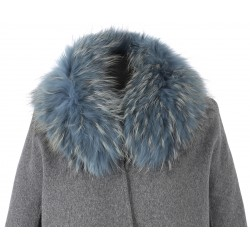 61595 - ICE BLUE FUR COLLAR