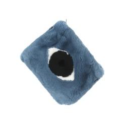EYES (REF. 62444) ICE BLUE - REAL FUR CLUTCH BAG