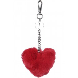 62157 - FIRE FUR HEART LUXURY KEYRING