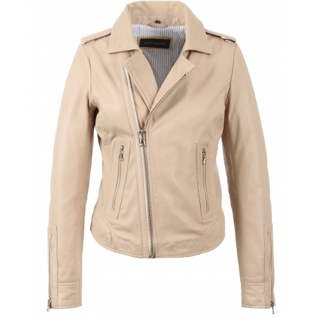 4322e01611ddd 62325 - BLOUSON NEVADA ROSE CLAIR - OAKWOOD - THE LEATHER BRAND