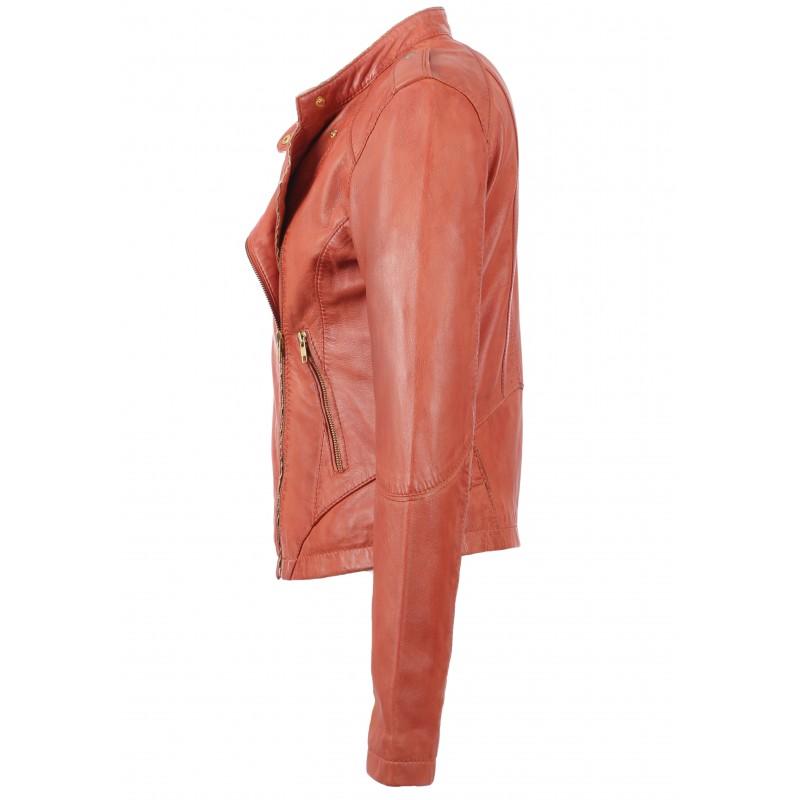 Leather Blouson Corail Summertime Oakwood The 62811 Brand U4qTXzT