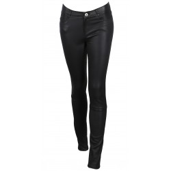 BLACK JEANS TROUSERS STRETCH LEATHER PANDORA
