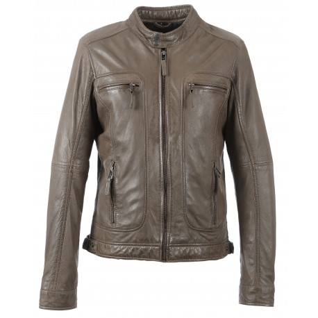 60901 - BLOUSON CASEY TAUPE