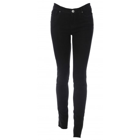 BLACK JEANS TROUSERS STRETCH SUEDE PANDORA