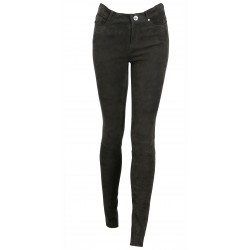 JEAN CUIR VELOURS STRETCH ANTHRACITE