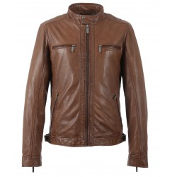 STEVEN (REF. 62810) COGNAC - GENUINE LEATHER JACKET