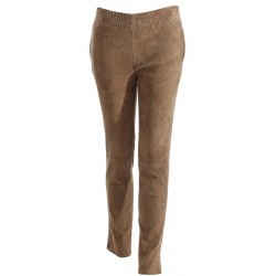 62904 - TOBACCO SUEDE STRETCH TROUSERS ENERGY